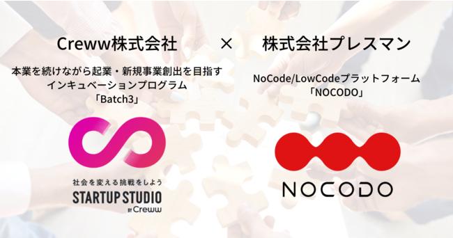 「NoCode(ノーコード) × スタートアップ」に関するCreww株式会社との業務提携について