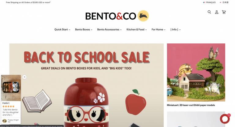 【Shopify事例紹介】Bento&co